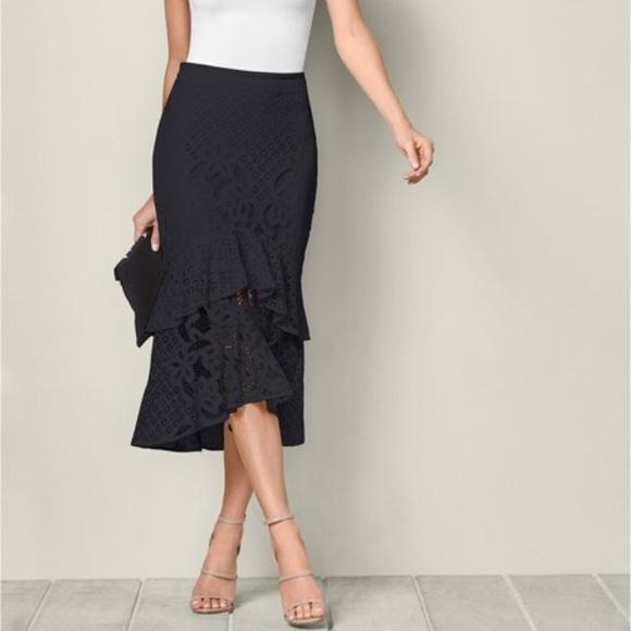 Venus Skirts Plus Size Date Night Lace Ruffle Skirt Poshmark